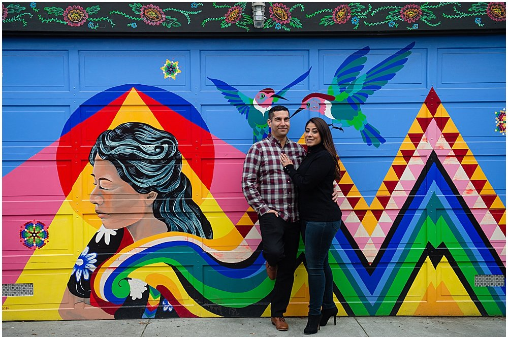 best places for engagement photos in san francisco Mission District Murals