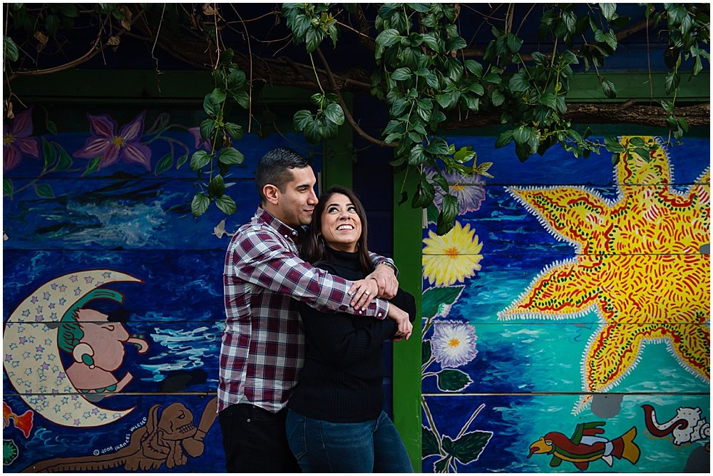 San Francisco mural engagement photos