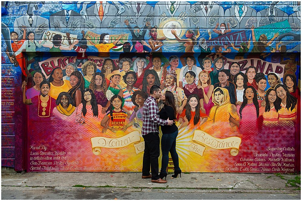 Mural engagement photos in San Francisco