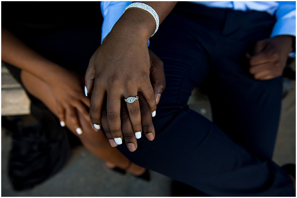 engagement photos crossed hands with ring
